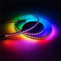 20x1 m blanco PCB 144 pixels/m WS2811 IC 5050 RGB WS2812B chip DC5V digital llevó color ideal tira luz
