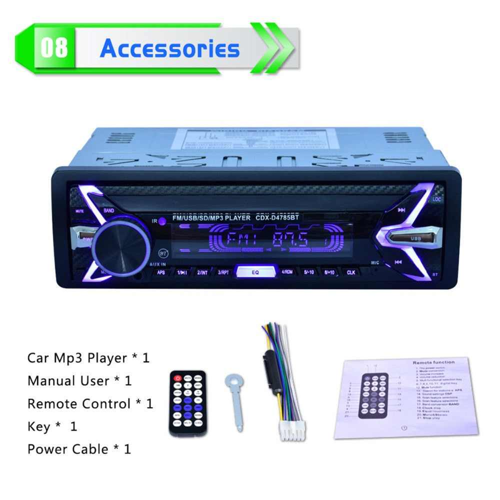 بلوتوث سيارة راديو تلقائي ستيريو MP3 AUX-IN راديو FM مشغل وسائط متعددة مع وحدة تحكم عن بعد