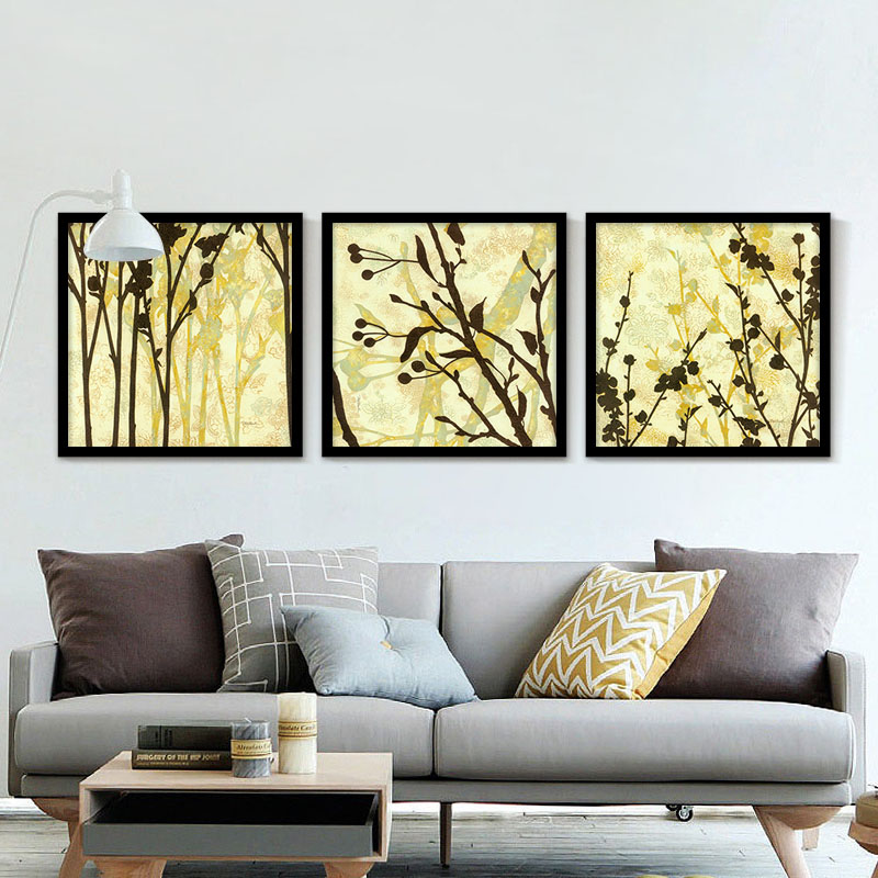 Unframed Triptych High Quality Plant Art Wall Picture Painting Prints  Poster Home Decor Living Room Decor Picture