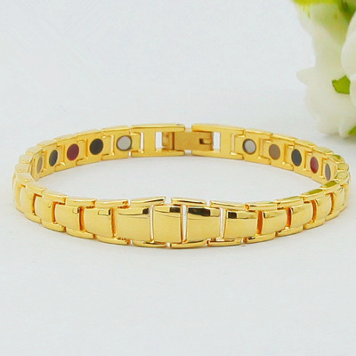 New Style 100 Pure Copper Magnetic Bracelet Germanium 24k Gold Plating Health Element Bracelets For