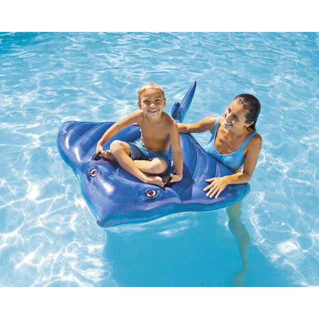 Blue Summer Swimming Pool Lounge Float Inflatable Pool Inflatable Toys  Animal Water Swimming Pool Toys For