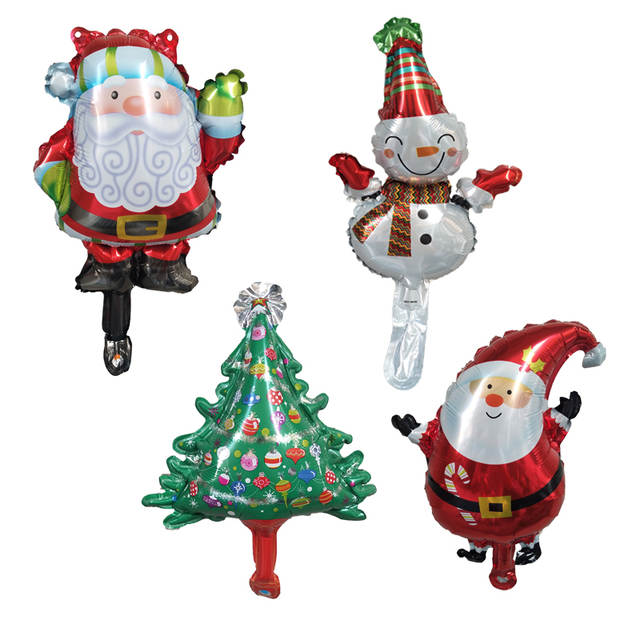 Foil Christmas Tree.1pc Mini Santa Claus Christmas Tree Snowman Foil Balloons Merry Christmas Globos Party Decoration Christmas Decorations For Home