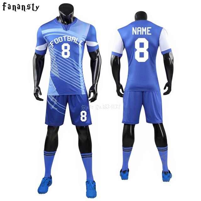 cf4beedb213 Soccer Jerseys Sets Survetement Football Kits Adult Men Futbol Training Cheap  Team Customized Uniforms Sports suits 2019 new