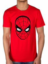 Official Marvel Comics Spiderman Big Head Men T-Shirt Captain America Hulk Thor(China)
