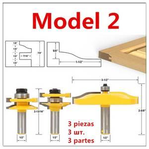 Image 3 - Porta dellarmadio Rail Stile Fresa Carbid Lavorazione Del Legno Router Bit Strumento di Legno Piano di Puzzle Coltelli Pannello Raiser Colla Comune