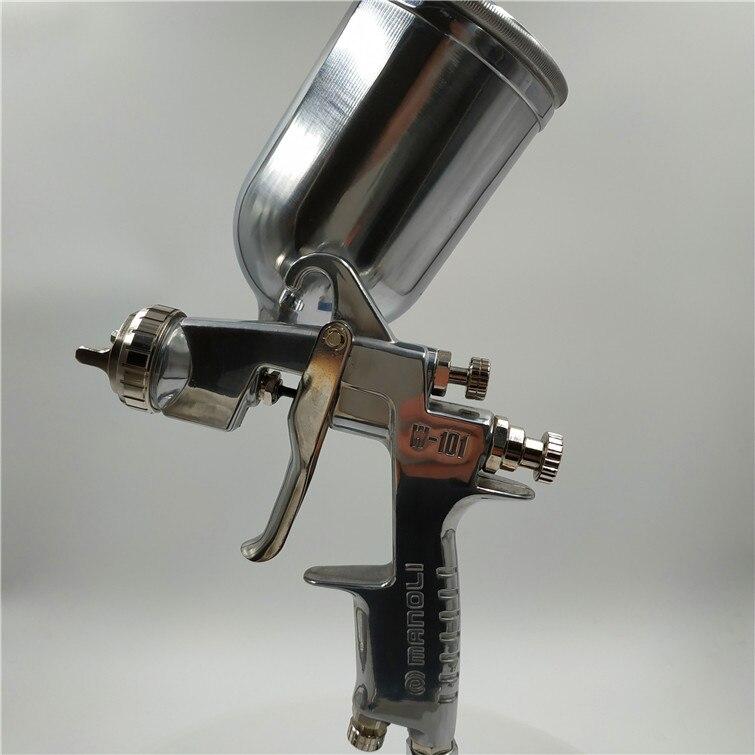 Бесплатная доставка, маноли ручной пистолет-распылитель W-101, тяжести всасывания давления Тип подачи, W101 покрасочный пистолет, хорошее распы...