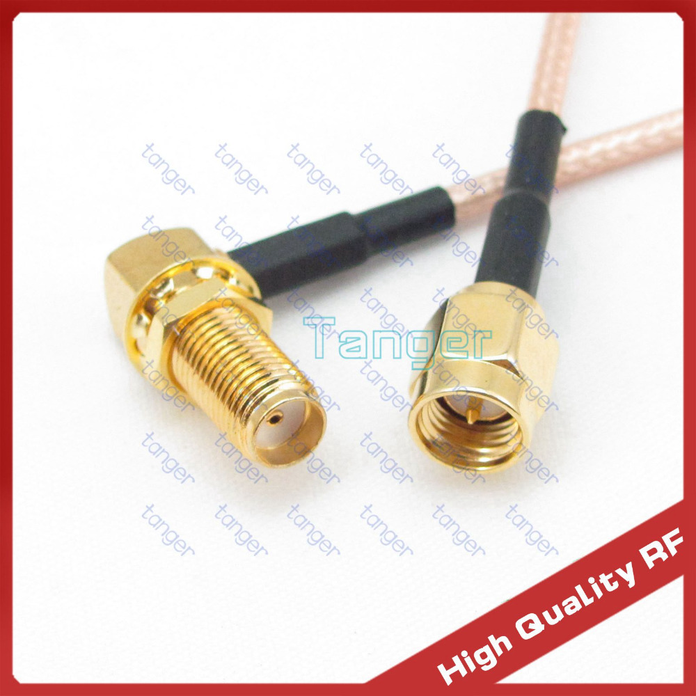 Hot sale 3 feet 100cm RG316 Coaxial Pigtail Jumper cable LOW Loss cable SMA female jack right angle connector to SMA male plug цена и фото