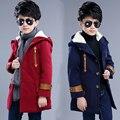 2016 novas crianças de roupas infantis para crianças de outono e casaco de inverno casaco casaco de lã longa seção de Coreano onda