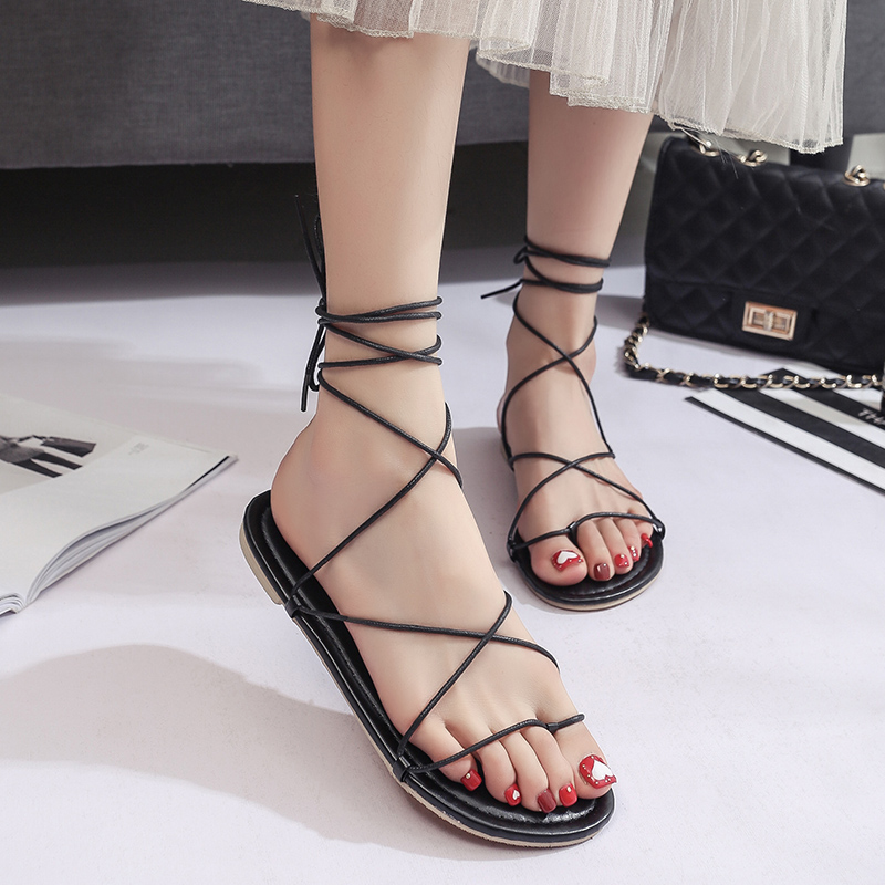 Front rear belts Sandals Women Cross Strappy Sandals Women Summer Shoes fashion Woman Instagram Sandals Season size 35-39