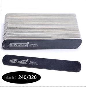 Image 3 - 200 pcs  Strong Thick Wood Nail Files 180/240 120/180 240/320 100/150 Lima Buffer Manicure  Wood Sanding Nails Files