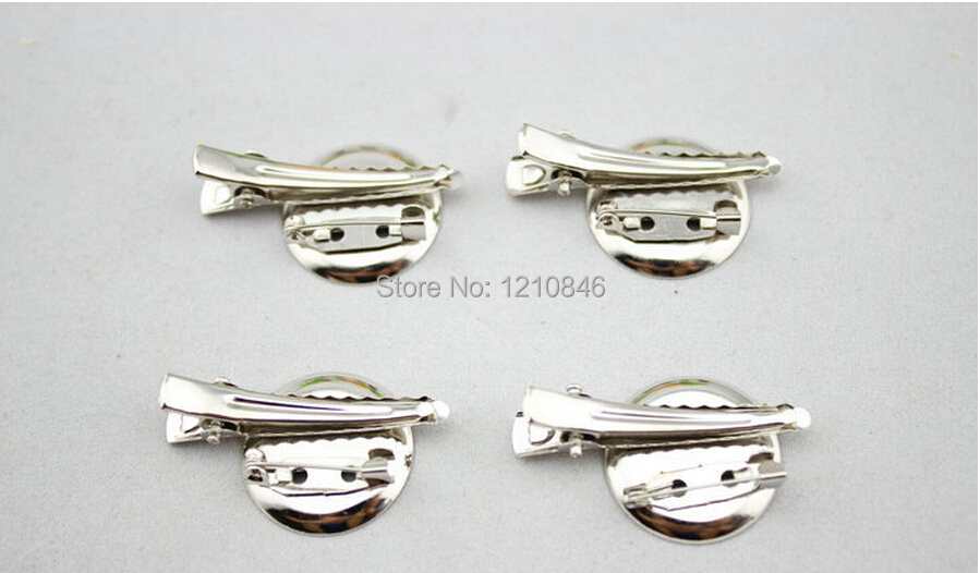 free shipping DIY brooch base, 25mm 2000pcs/lot, Brooch accessories With Clip and Safety Pin use for brooch and hair jewelry,