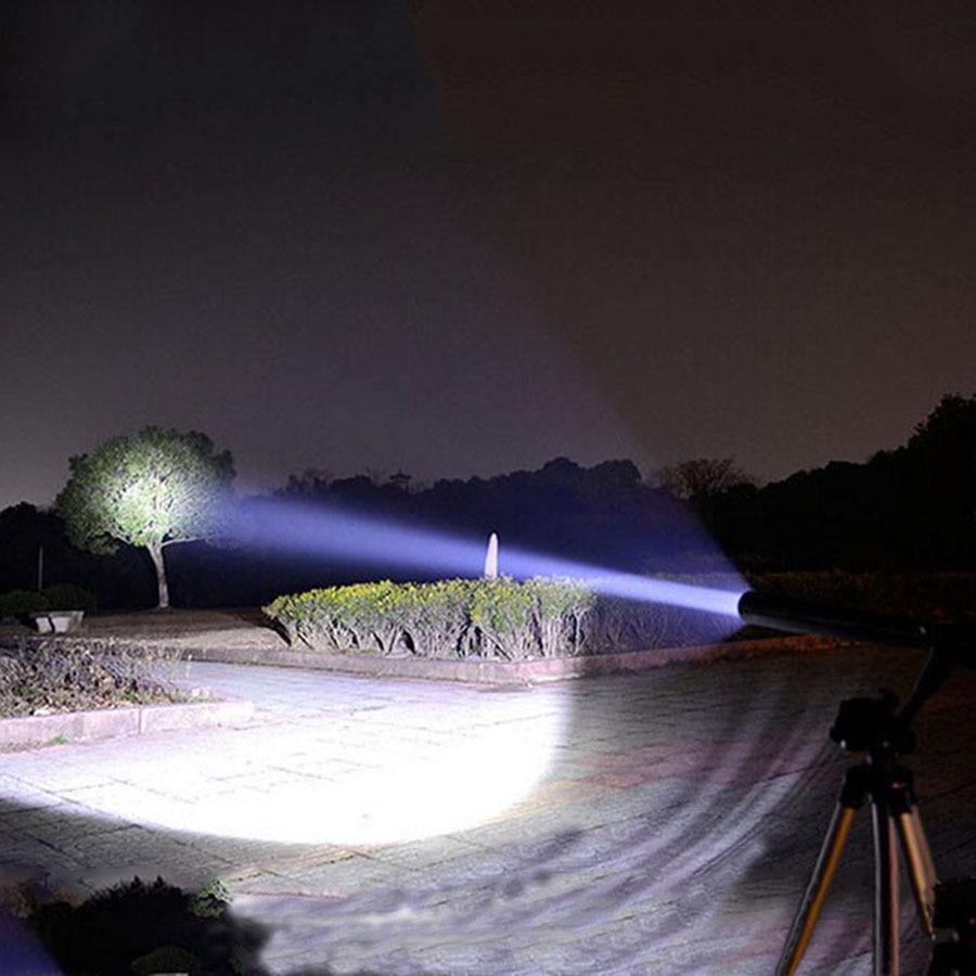 Outdoors Emergency LED Long Flashlight Rechargeable Self Defense Glare Flashlight Extended Baseball Bat Anti Riot Equipment