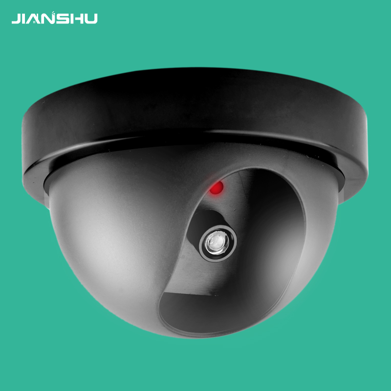 Black Wireless Security Fake Camera Simulated video Surveillance indoor/outdoor Surveillance Dummy Ir Led Fake CCTV Dome camera цена и фото