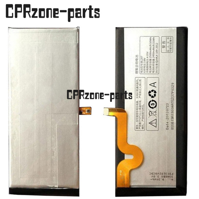 100% Warranty 2500mah BL207 li-polymer battery pack replacement for Lenovo K900 by free shipping