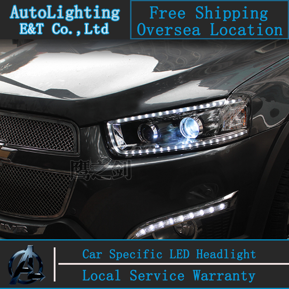 Car Styling Head Lamp for Chevrolet Captiva headlight assembly 2008-2014 Captiva led headlight led drl H7  with hid kit 2 pcs. car styling head lamp for bmw e84 x1 led headlight assembly 2009 2014 e84 led drl h7 with hid kit 2 pcs
