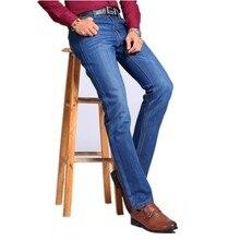 2016 зимние мужские классические Высокое качество джинсы, мужские прямые джинсы, мужская хлопок джинсы Карандаш Брюки Большой размер 28-42