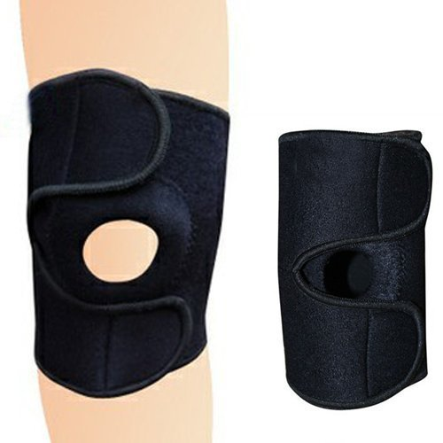 1pcs Fashion football basketball volleyball safe kneepad Adjustable strap patella reduce knee belt protector Fastener Free size adjustable knee support joint brace apparatus kneepad fixed frame postoperative hard knee ligament fixation recovery