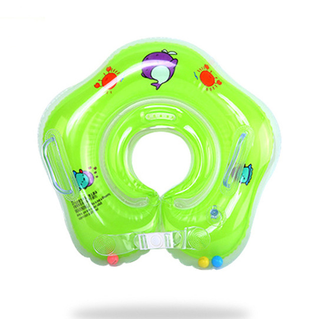 Swimming Baby Pools Accessories Baby Inflatable Ring Baby Neck Inflatable Wheels for Newborns Bathing Circle Safety Neck Float 2