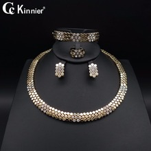 Fashion women Bridal wedding jewelry set gold-color Crystal necklace unique earrings bracelet Ring african beads jewelry sets тостер hotpoint ariston tt 22m