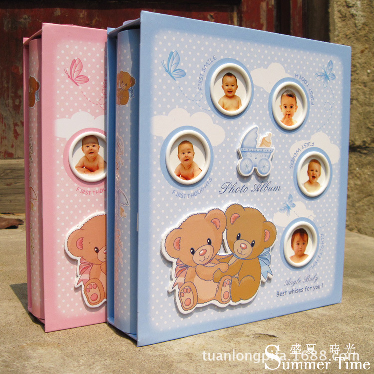 6 inch 2016 new cute baby kids photo album interleaf type