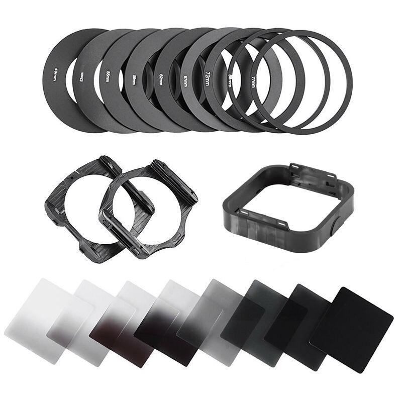 Neue 20in1 Neutral Density Schrittweise ND2 ND4 ND8 ND16 Filter Kit 49 52 55 58 62 67 72 77 82mm für Cokin P Set SLR DSLR Kamera Objektiv