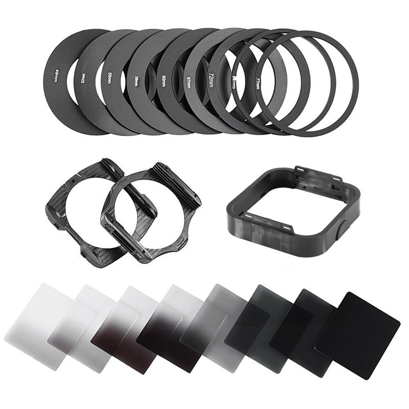 New 20in1 Neutral Density Gradual ND2 ND4 ND8 ND16 Filter Kit 49 52 55 58 62 67 72 77 82mm for Cokin P Set SLR DSLR Camera Lens nisi obscuration nd2000 67 72 77 82mm ultra thin neutral density nd4 0 gray mirror filter lens pen
