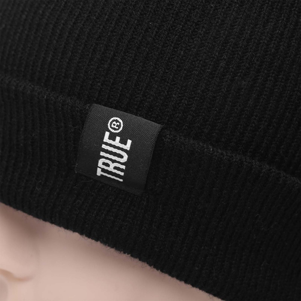 Letter True Casual Beanies for Men Women Fashion Knitted Winter Hat Solid Color Hip-hop Skullies Bonnet Unisex Cap Gorro 5