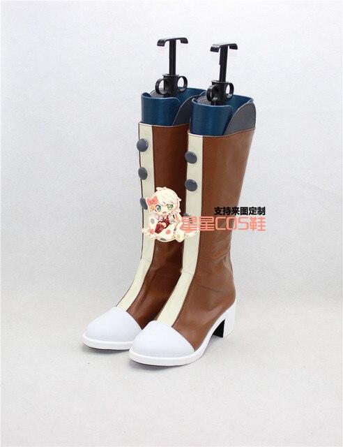 Vocaloid Meninas Marrom Longo Dia Das Bruxas Cosplay Shoes Botas X002