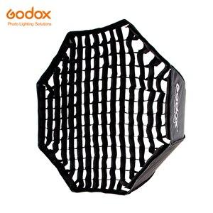 """Image 1 - Godox Portable 120cm 47 """"nid dabeille grille octogone parapluie Softbox Photo Softbox réflecteur pour Flash Speedlight"""