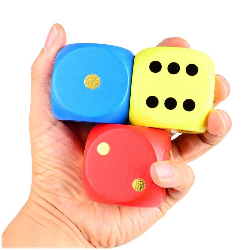 BOHS Big Seven Colours Wooden Dice 5cm Family Board Desktop Gamble ...