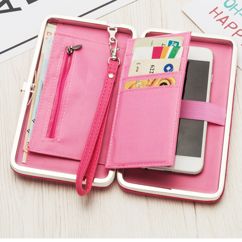Baellerry Luxury Wallets Women Leather Embroidery Wallets Long Cute Cat Purse High Capacity Clutch Phone Pocket Cards Holder New in Wallets from Luggage Bags