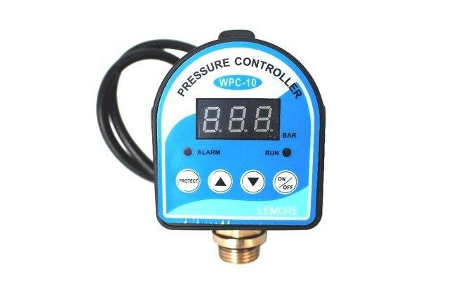 英語/ロシアデジタル圧力制御スイッチ WPC 10 、デジタルディスプレイ wpc 水ポンプ eletronic 圧力コントローラ