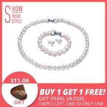 e8903d7b6 DAIMI Pearl Jewelry Sets Necklace Bracelet Earrings Baroque Pearl Sets For  Women Party Jewelry Wedding Jewlery