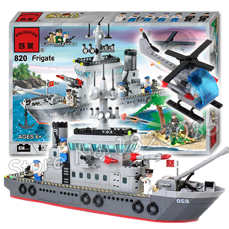 614pcs 2016 new Hot New CombatZones Frigate large model Christmas Gift Building Blocks toys Compatible With Lego 2016 extra large 3d printer with 400x400x470mm building envelope