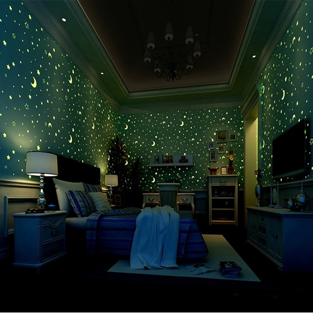 3D Luminous Wallpapers Roll Stars And The Moon Boys And