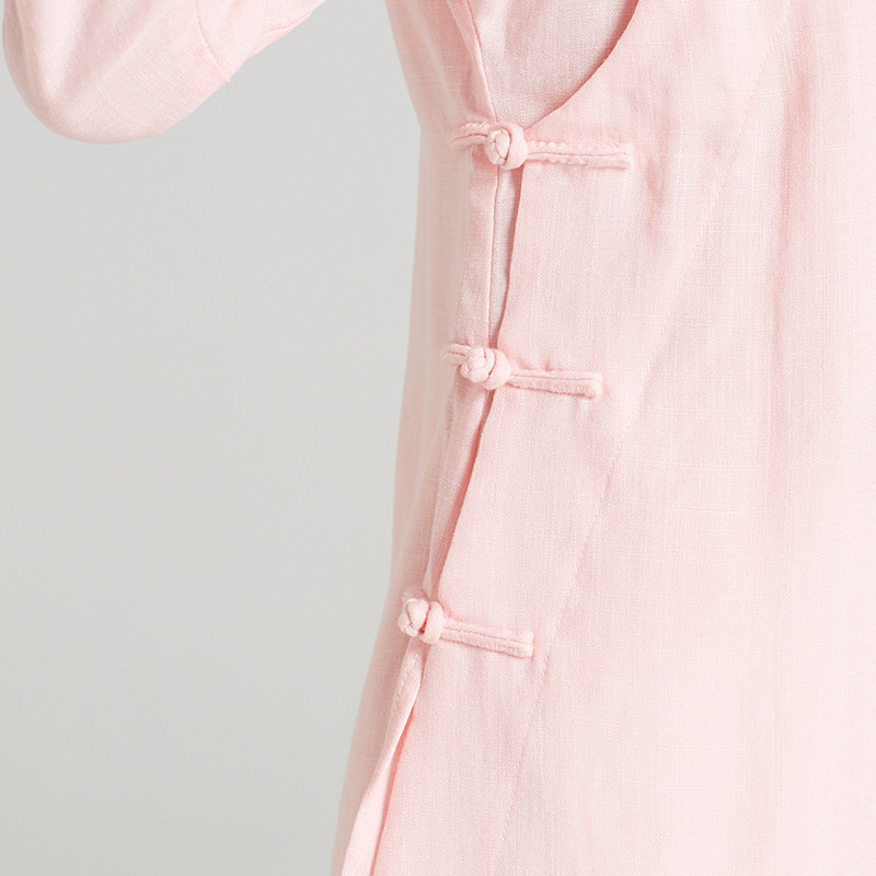 High-Quality Linen Wudang Female Gong Fu Robe 4
