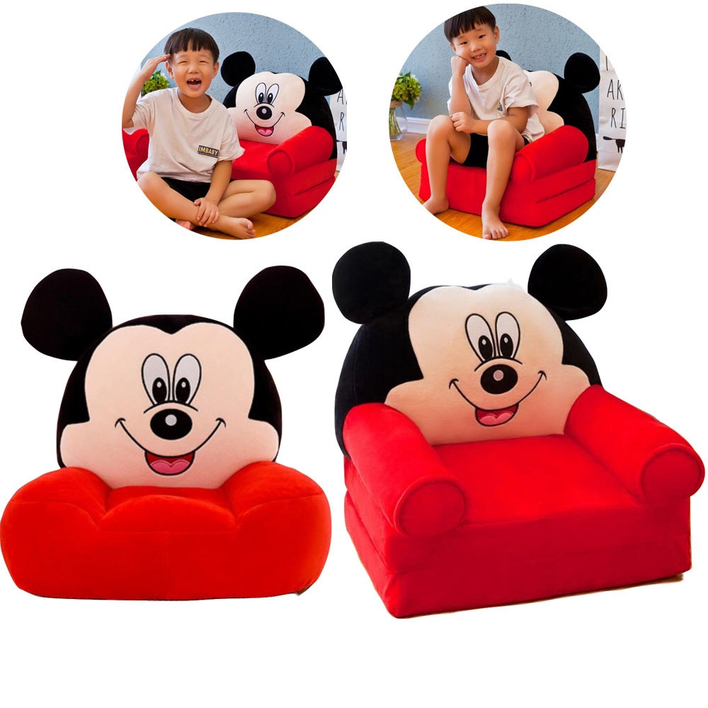 Infantile Baby Sofa Baby Support Seat Kids Cartoon Cute Children Chair Neat Puff Skin Animal Lazy Backrest Plush seats Cushion