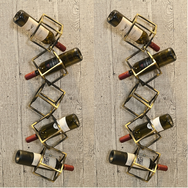Concise Creative Metal Grape Wine Rack Wall Hanging On The Wall Of Restaurant,