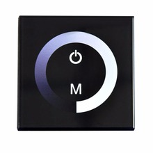 DC12-24V 4A/CH 3Channel Touch Panel Dimmer Wall Recessed Touchable LED Dimmer For Single Color LED Strip Light