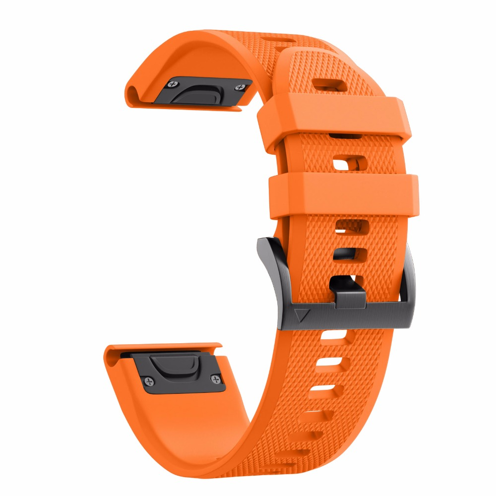 26mm/22mm Width Strap for Garmin Fenix 5X/3/3HR Band Sport Silicone Watchband with Easy Fit function for Fenix 5/Forerunner 935