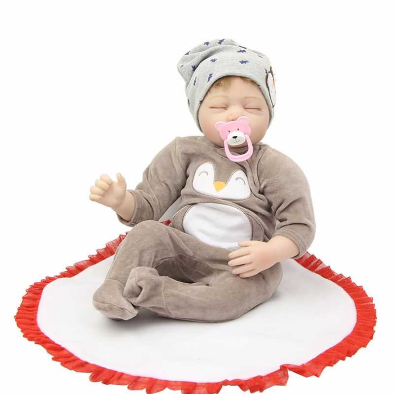 22inch reborn sleeping bebe dolls Playmate Gift for Girls Baby Alive Soft Toys for Bouquets Doll bebes doll Toys for sale22inch reborn sleeping bebe dolls Playmate Gift for Girls Baby Alive Soft Toys for Bouquets Doll bebes doll Toys for sale