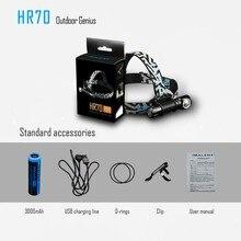 IMALENT HR70 фара CREE XHP70.2 LED max 3000 люмен налобный фонарь с магнитной зарядной головкой с батареей 18650 li LED головной фонарь