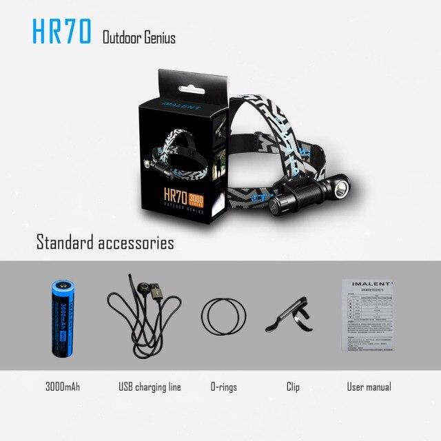 IMALENT HR70 Scheinwerfer CREE XHP70.2 LED max 3000 lumen scheinwerfer Magnetic Charging kopf licht mit 18650 li batterie LED Kopf lampe
