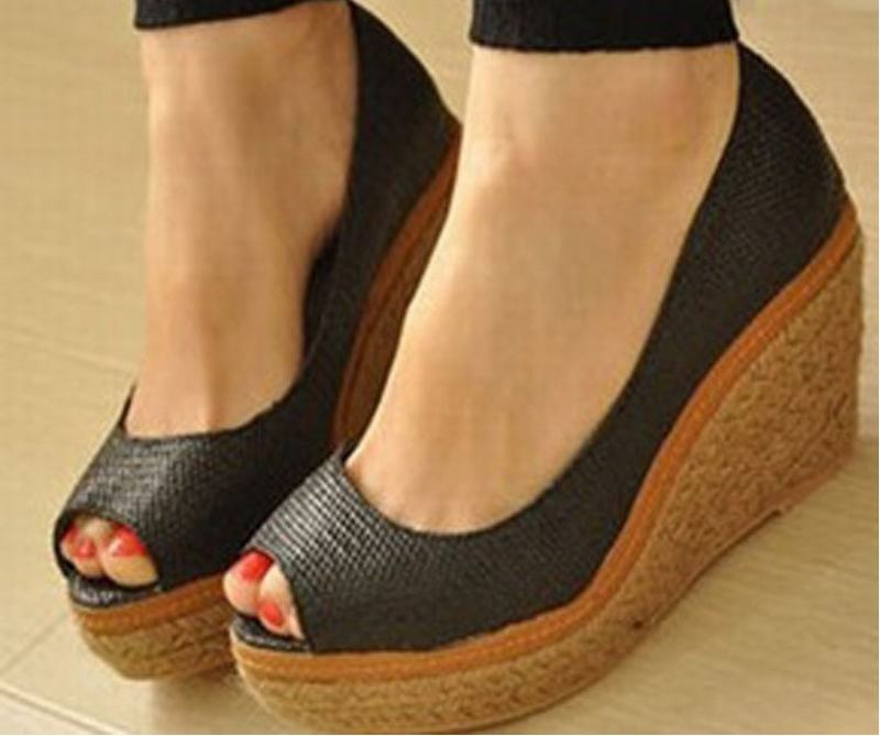 2016 spring new fashion women platform hemp wedges pumps high heels sexy open toe rome woman peep toe single shoes big size34-46 spring summer new fashion sexy women pumps peep toe wedges platforms high heels sandals shoes woman buckle 35 42 loslandifen