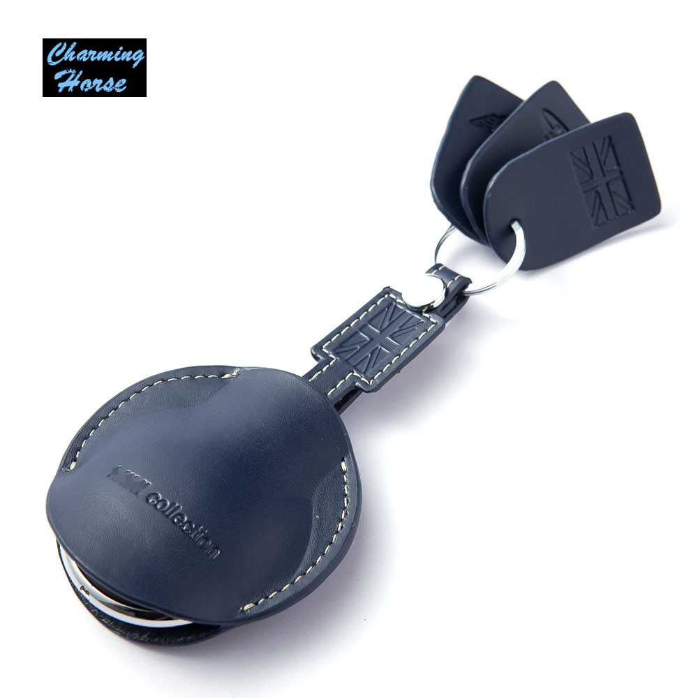 car leather key fob shell bag holder case cover key chain for bmw mini cooper convertible. Black Bedroom Furniture Sets. Home Design Ideas