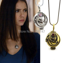 Wholesale Fashion Movie Jewelry The Vampire Diaries Elena Vervain Filmes Box Alloy Pendant Necklace 12pcs/lot