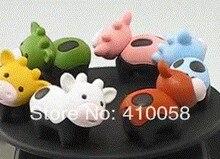 Free shipping cute colorful animal cow eraser 120pcs/lot Creative school children prize eraser