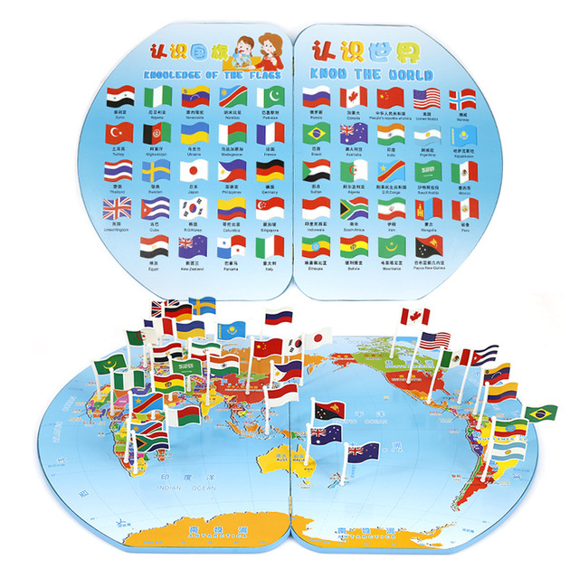 Bady educational place the flag on world map tridimensional place bady educational place the flag on world map tridimensional place the flag educational toys parent early gumiabroncs Images