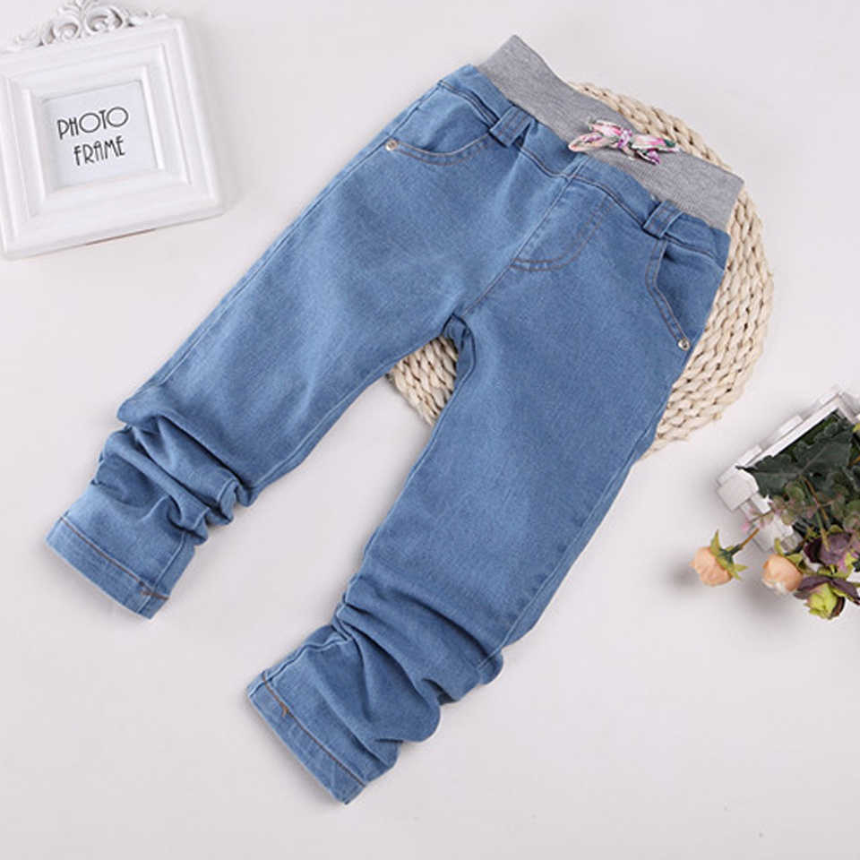 ca36e1267a1 ... Top Sale Denim Pants Girl Toddler Denim Pants Free Shipping Slim Jeans  For Kids Solid Jeans ...