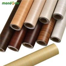 Self adhesive Wood Grain Contact Paper Waterproof Wallpaper PVC Vinyl Furniture Wardrobe Door Stickers Wall Papers Home Decor